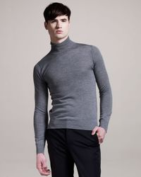 Givenchy - Gray Turtleneck Sweater for Men - Lyst