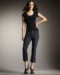 J Brand | Blue Gigi Pure Ink Cropped Jeans | Lyst