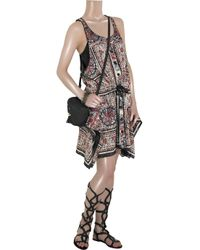 Anna Sui | Red Paisley Scarf Dress | Lyst