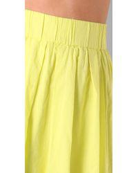 Club Monaco - Yellow Kolina Skirt - Lyst