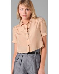 Dolce Vita - Pink Chase Cropped Blouse - Lyst