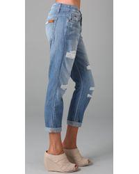 Joe's Jeans - Blue Rolled Best Friend Jeans - Lyst