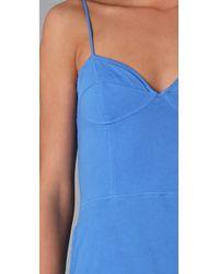 Monrow | Blue Bustier Midi Dress | Lyst