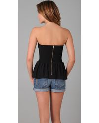 Parker | Black Solid Strapless Top | Lyst