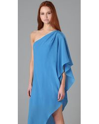 Thread Social - Blue One Shoulder Caftan Dress - Lyst