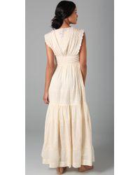 Beyond Vintage - White Intricate Emb Wedding Dress - Lyst