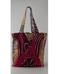 Bluma Project | Pink Multi Print Oversized Beach Bag | Lyst