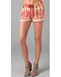 Joie | Orange Ikat Print Abbott Shorts | Lyst