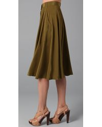 Madewell - Green Draped Military Skirt - Lyst