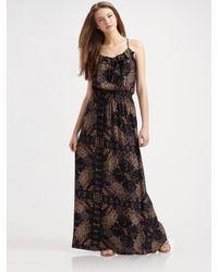 Parker   Brown Cami Silk Maxi Dress   Lyst