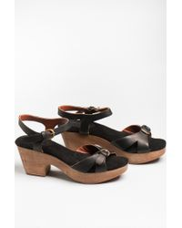 Rachel Comey | Black Tuco Asymmetrical Braided Front Sandals | Lyst