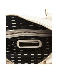 Rebecca Minkoff - Natural Cream Leather Flame Lattice Woven Top Handle Bag - Lyst