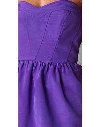 Shoshanna - Purple Sweetheart Strapless Dress - Lyst
