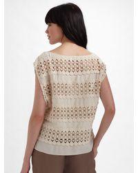 The Addison Story - White Silk Crochet Top - Lyst