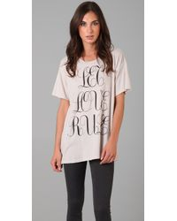 Wildfox - White Let Love Rule Tee - Lyst