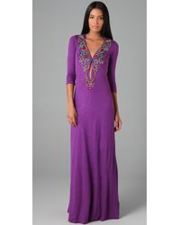 Antik Batik - Purple Clara Embellished Long Dress - Lyst