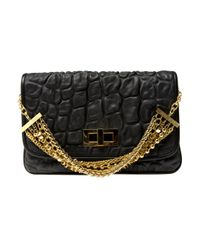 Eastland | Black Quilted Chain Clutch | Lyst