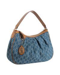 Gucci | Blue Sukey Hobo Bag | Lyst