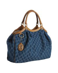 Gucci | Blue Sukey Medium Tote | Lyst