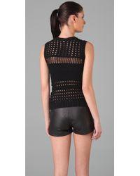 Maggie Ward | Black Crochet Top | Lyst