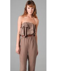 The Addison Story | Natural Belted Jumpsuit | Lyst