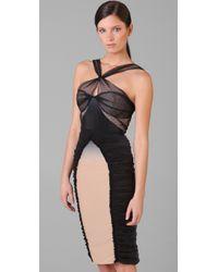 Zac Posen - Black Ombre Silk Dress - Lyst