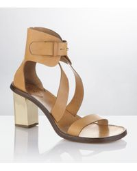 Chloé | Brown Conway Leather Sandal | Lyst