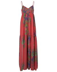 Halston | Multicolor Floral Printed Maxi Dress | Lyst