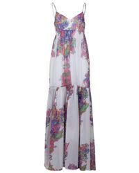 Halston | White Long Dresses | Lyst