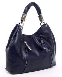 Michael Kors | Blue Tonne Leather Hobo, Navy | Lyst