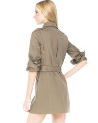 Michael Kors - Green Safari Belted Trench Dress - Lyst