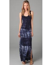 Velvet By Graham & Spencer | Blue Fossil Tie Dye Melba Tank Dress | Lyst