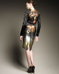 Alexander McQueen - Multicolor Harness Pencil Dress - Lyst