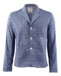 B Store | Blue Liberty Print Brentwood Utility Blazer for Men | Lyst