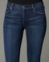 Citizens of Humanity | Blue Avedon Super-stretch Denim Leggings | Lyst