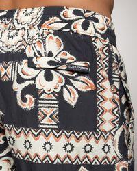 Dolce & Gabbana - Black Hawaiian-print Boardshorts for Men - Lyst
