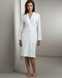 Hanro   White Short Waffle-knit Robe   Lyst