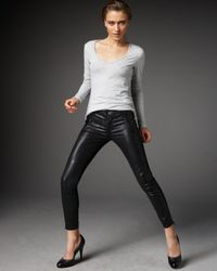 J Brand | Black Agnes Waxed Stealth Leggings | Lyst