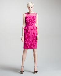 Jason Wu - Pink Chiffon Cascade-ruffle Dress - Lyst