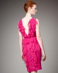 Jason Wu | Pink Chiffon Cascade-ruffle Dress | Lyst