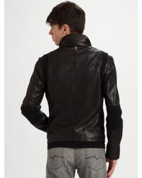 Mackage - Black Garment-washed Leather Jacket for Men - Lyst