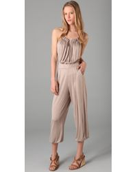T-bags | Natural Jersey Jumpsuit | Lyst