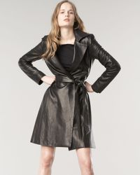 The Row - Black Walden Leather Trench Coat - Lyst
