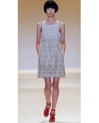 Adam Lippes | Natural Linen Eyelet Dress | Lyst