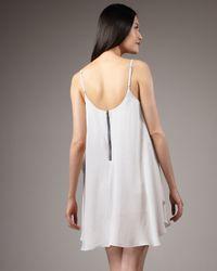 Alice + Olivia | White Cammie Trapeze Dress | Lyst