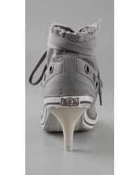 Ash - Gray Fresh Kitten Heel Sneakers - Lyst