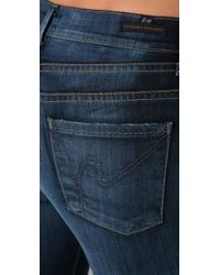 Citizens of Humanity | Blue Hutton High Rise Wide Leg Jeans | Lyst