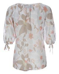 Fenn Wright Manson - Natural Lawn Matisse Flower Print Tunic Top Sorbet - Lyst