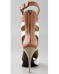 Giuseppe Zanotti | Natural Ankle Wrap Open Toe Booties | Lyst