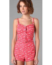 Marc By Marc Jacobs | Pink Colette Floral Romper Suit | Lyst